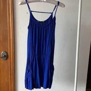 American Eagle Royal Blue Mini Pocket Dress